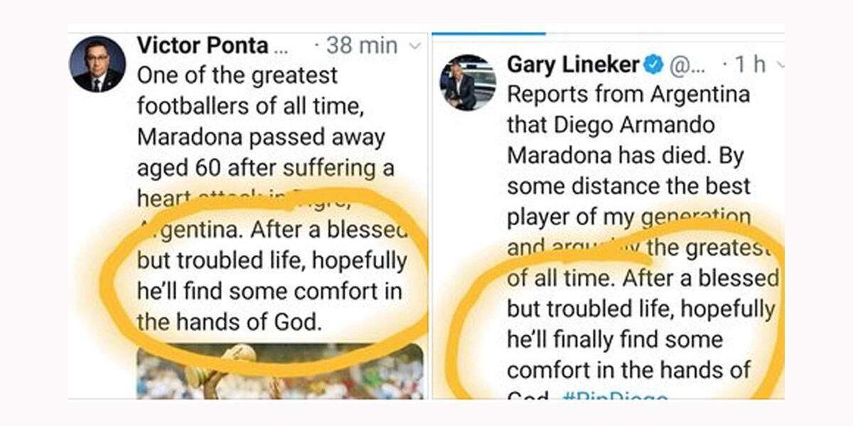 """Ponta se dezvinovățește: """"Nu eu, ci mâna lui Dumnezeu a scris mesajul plagiat"""""""