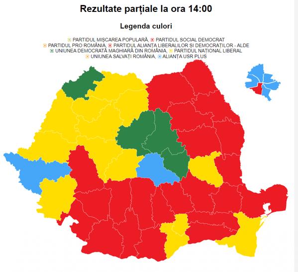 BEC, rezultate finale: PSD 29,1%, PNL 25,4%, USR-PLUS 15,6%, AUR 9,1%. PMP s-a oprit la 4,93%. Prezența la vot: 33,24%