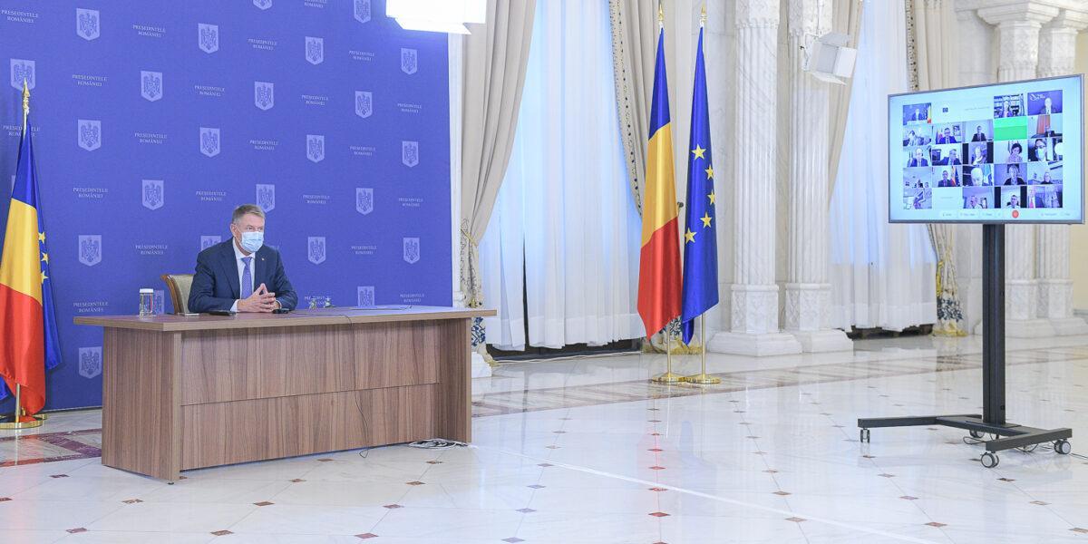 Klaus Iohannis, videoconferință cu ambasadorii statelor UE: Noul Guvern va avea ca principal obiectiv reconstrucţia României şi consolidarea ca partener de încredere al UE