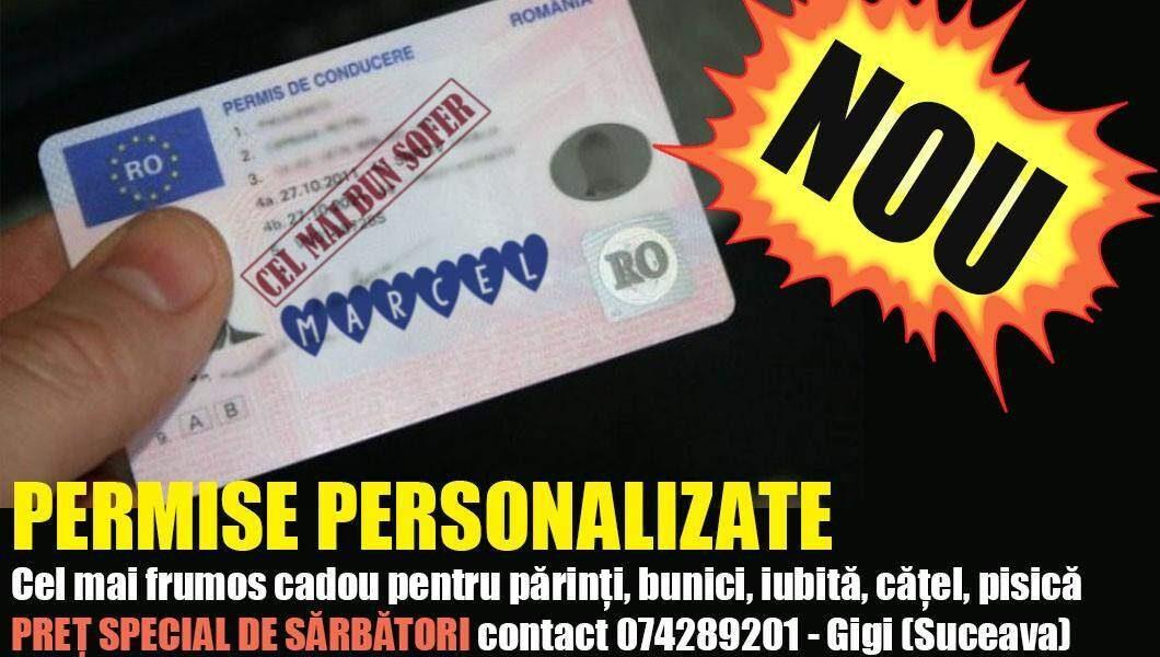 """Șeful de la Permise Suceava făcea și permise personalizate, cu """"Cel mai bun șofer"""""""