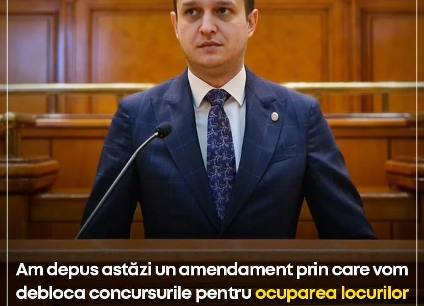 Deputatul PNL Tudor Polak cere deblocarea posturilor în instituțiile publice