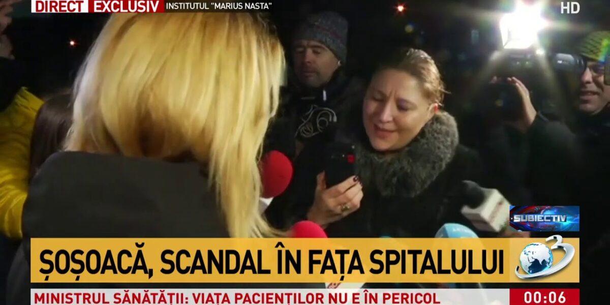 """S-a urcat dânsa-n copac: """"Eu sunt doamna senator Șoșoacă! Cum îți permiți să stai în fața mea? Vei păți ce trebuie să pățească un om care i se opune unui demnitar!"""""""