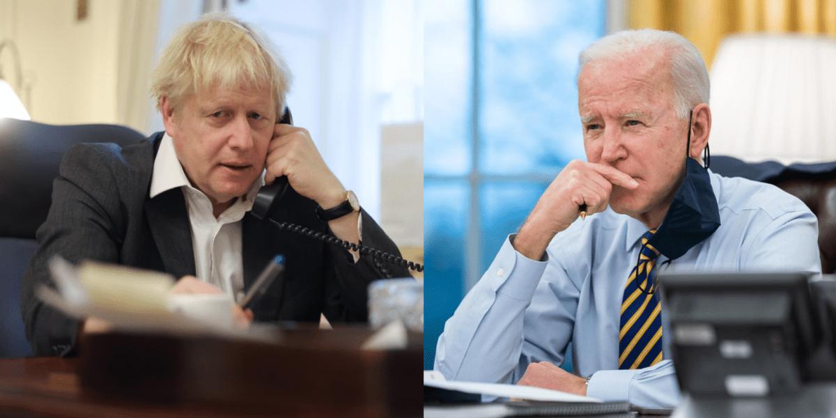 """Joe Biden, convorbire cu Boris Johnson: Liderul SUA vrea lansarea unei inițiative a statelor democratice care să rivalizeze cu """"Drumul Mătăsii"""" inițiat de China"""