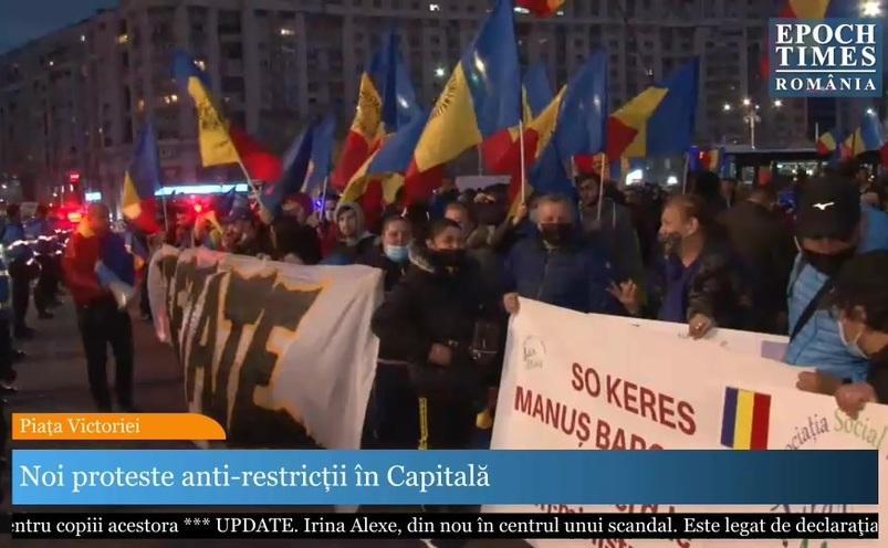 Protestul anti-restricţii continuă. Manifestanţii au fost incitaţi împotriva presei
