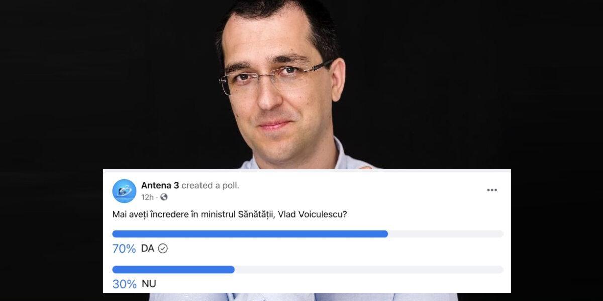 """Gâdea, zdrobit cu propriu-i sondaj: 65% dintre respondenți au încredere în Vlad Voiculescu! """"Mulțumesc, Antena 3"""", l-a ironizat ministrul"""