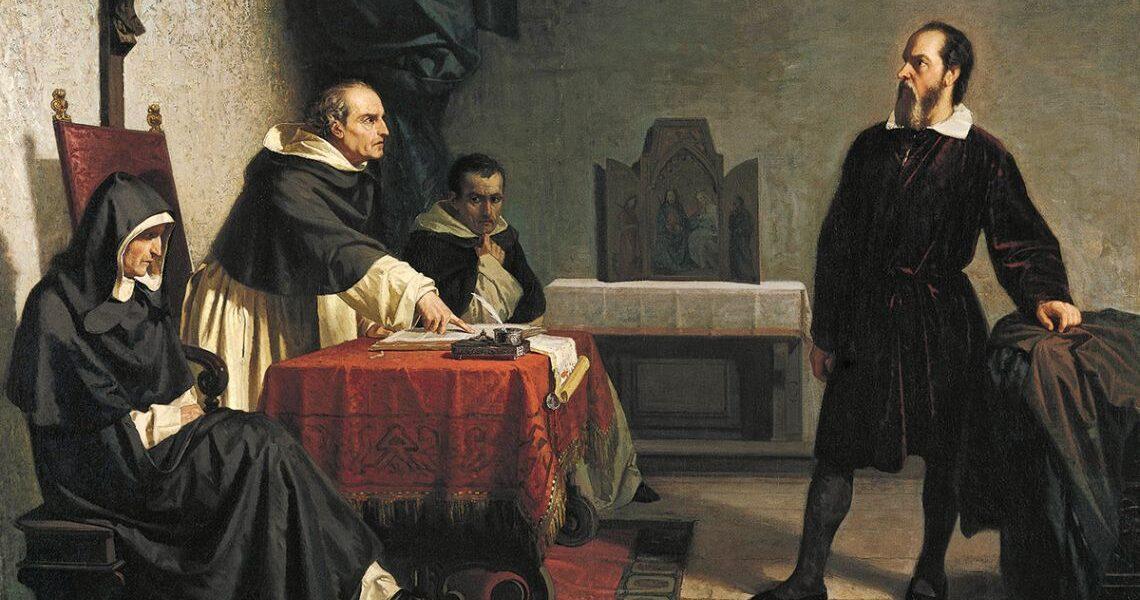 """21 iunie 1633 – Inchiziția l-a găsit pe Galileo Galilei """"suspect de erezie"""" pentru apărarea teoriei heliocentrice a lui Nicolaus Copernicus"""