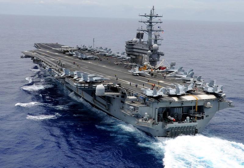 USS Ronald Reagan a intrat într-o misiune de rutină în Marea Chinei de Sud