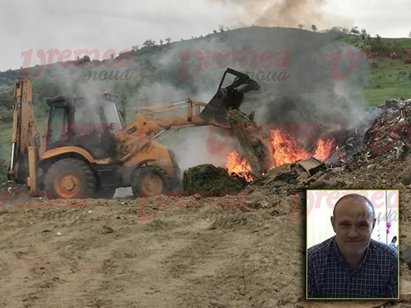 """Garda de Mediu, nicio sancțiune în cazul incendiului la groapa clandestină de gunoi: """"suntem în proces cu UAT Muntenii de Sus"""""""
