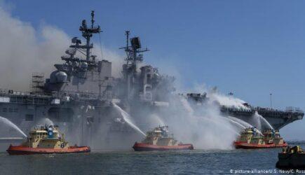 Incendierea USS Bonhomme: Cel mai mare dezastru al US Navy pe timp de pace nu a fost un accident. Un militar, trimis în fața curții marțiale