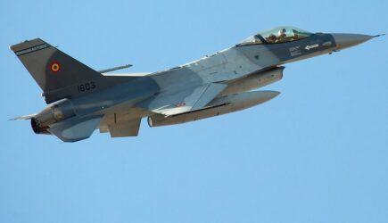 Un F-16 românesc a pierdut rezervorul extern în momentul în care a lansat o bombă de antrenament